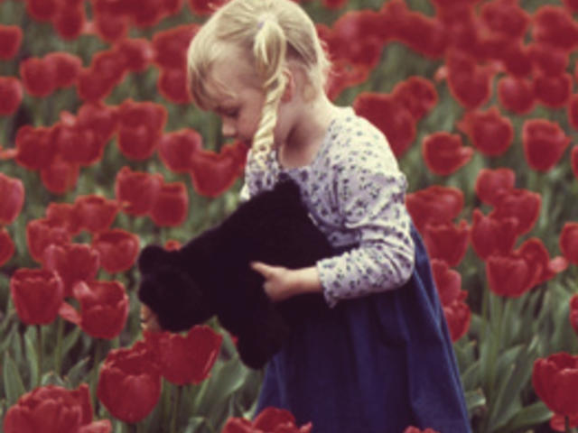 Girl With Biltmore Tulips