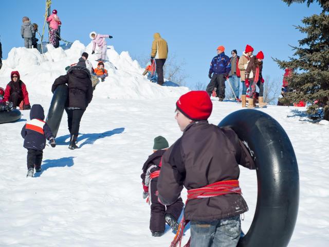 Toboganning, Festival du Voyageur