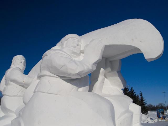 Voyageurs Ice Sculpture, Festival du Voyageur