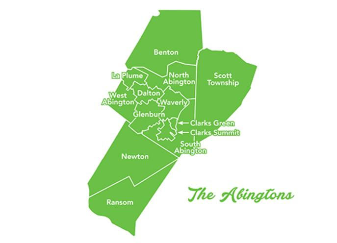 The Abingtons map