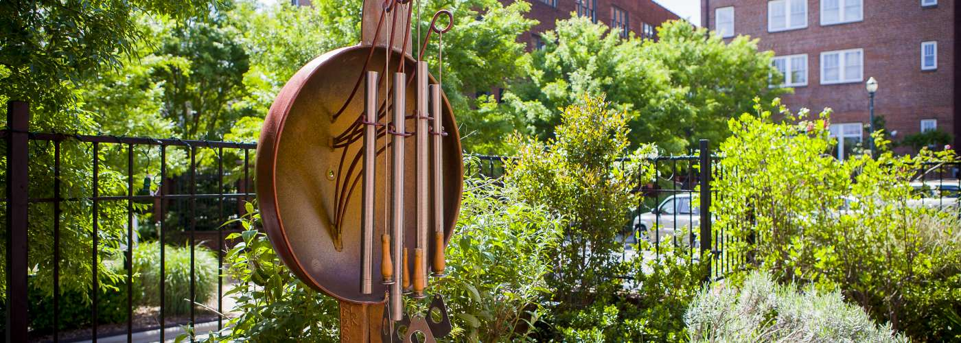 Metal Sculpture on display by the Arts Council