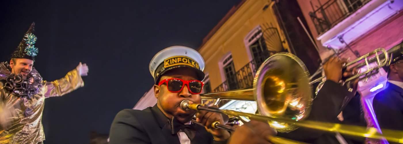 Brass band, french quarter