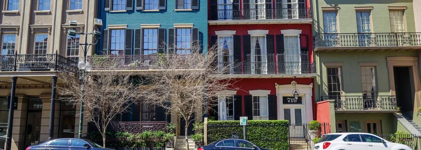 Camp Street townhouses - Warehouse District