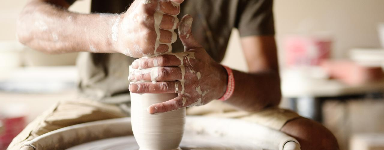 Potter's Hands at Tire City Potters
