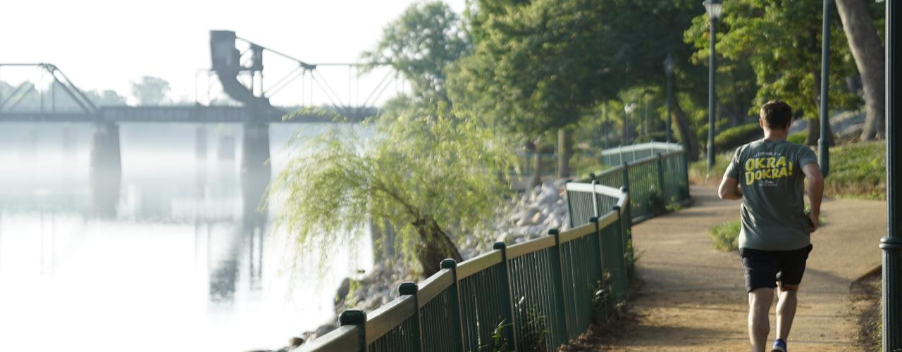 Morning Run on the Riverwalk