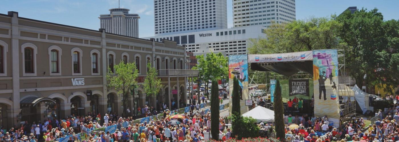 Zydeco Stage - French Quarter Fest 2016