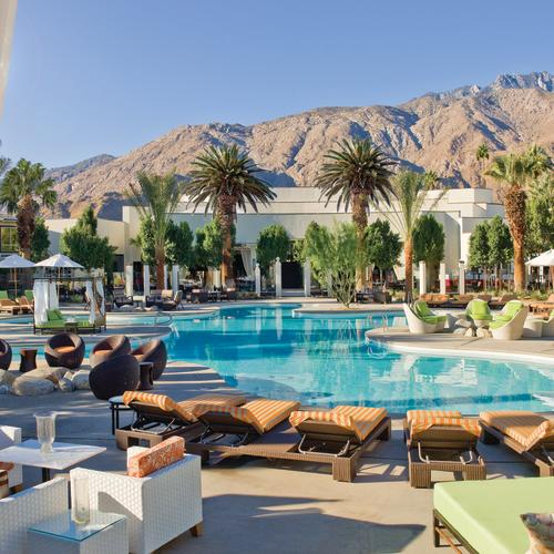 riviera palm springs pool day