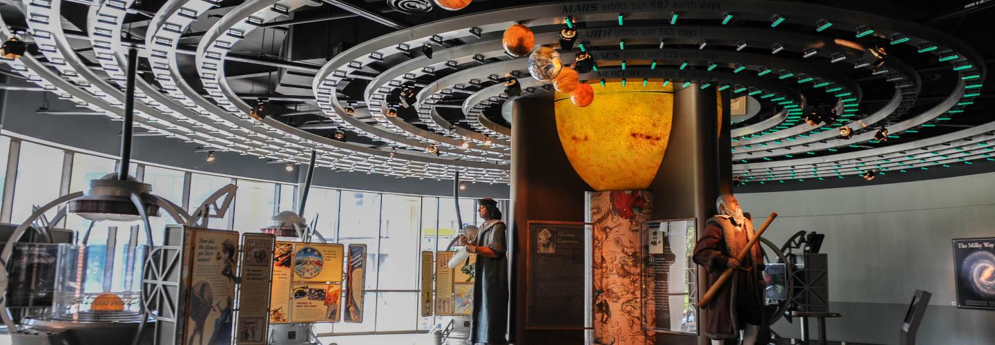 Solar system exhibit at LASM