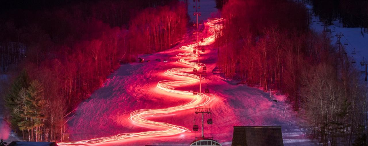 Gore Mountain Torch Light Parade & Firework