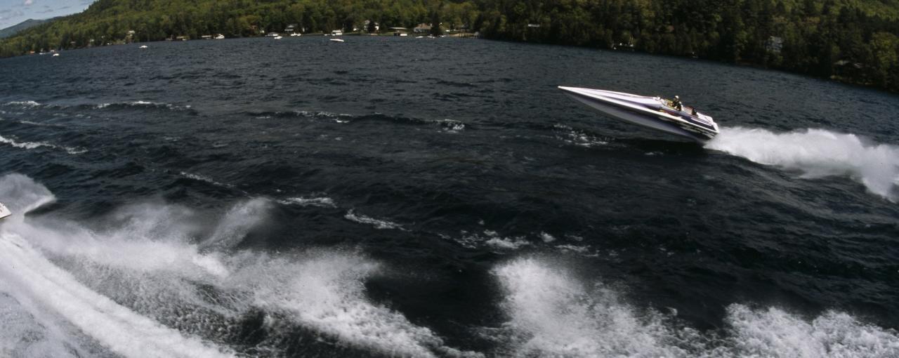 Boats on Lake George