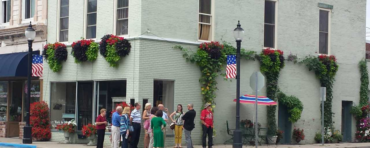 Group visit to downtown Martinsville