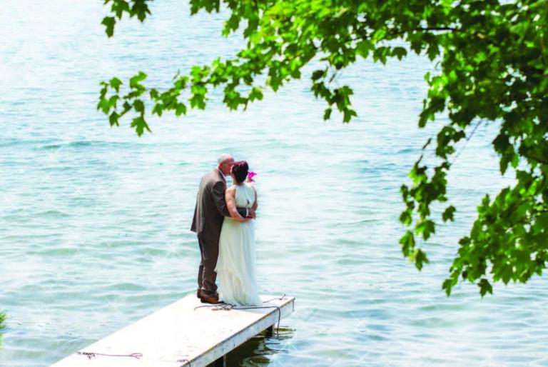 couple on dock