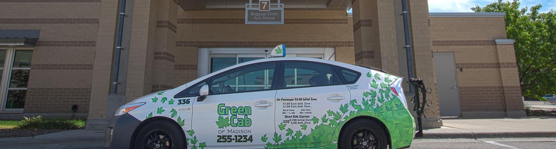 Green Cab at Airport