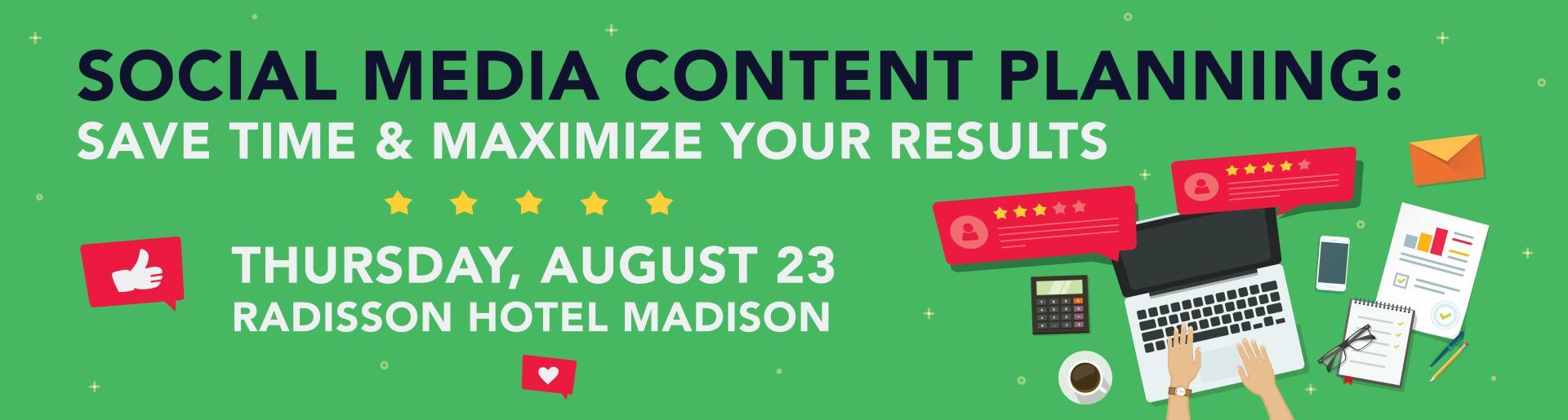 Social Media Content Planning Event Header