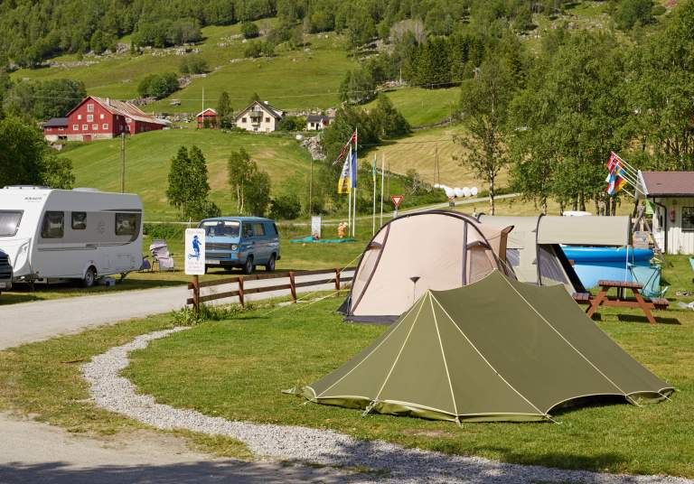 tents in birkelund camping in Hovet at Route 50