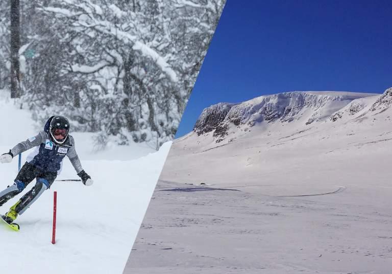 Skiiing and hallingskarvet
