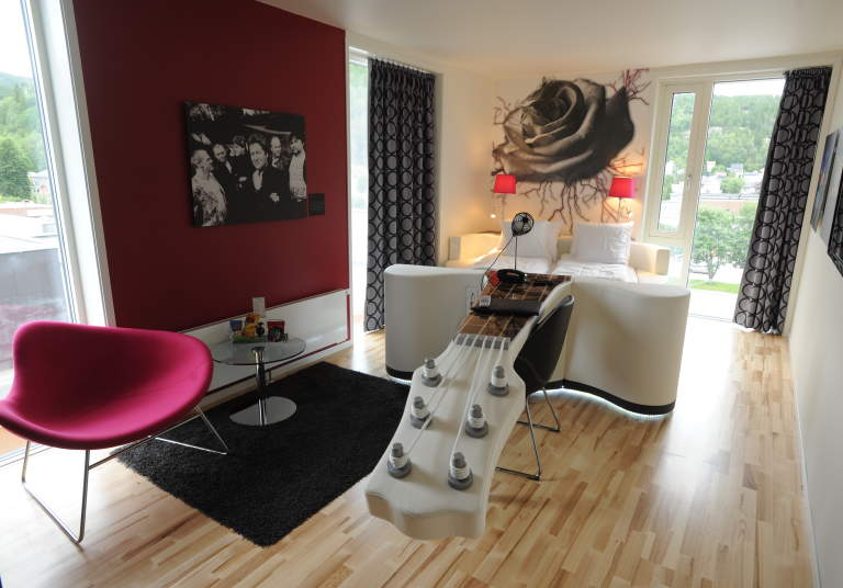 Rica Rock City Hotel in Namsos is the country's only rock hotel.