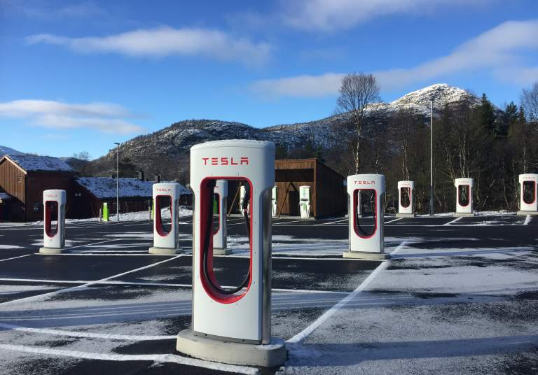 Charging point in Hovden
