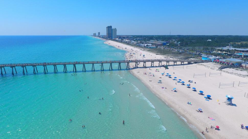Panama city beach find hotels restaurants things to do for Panama city beach pier fishing report