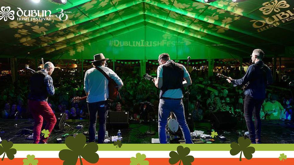 Irish entertainment at the Dublin Irish Festival with 30th Anniversary logo.
