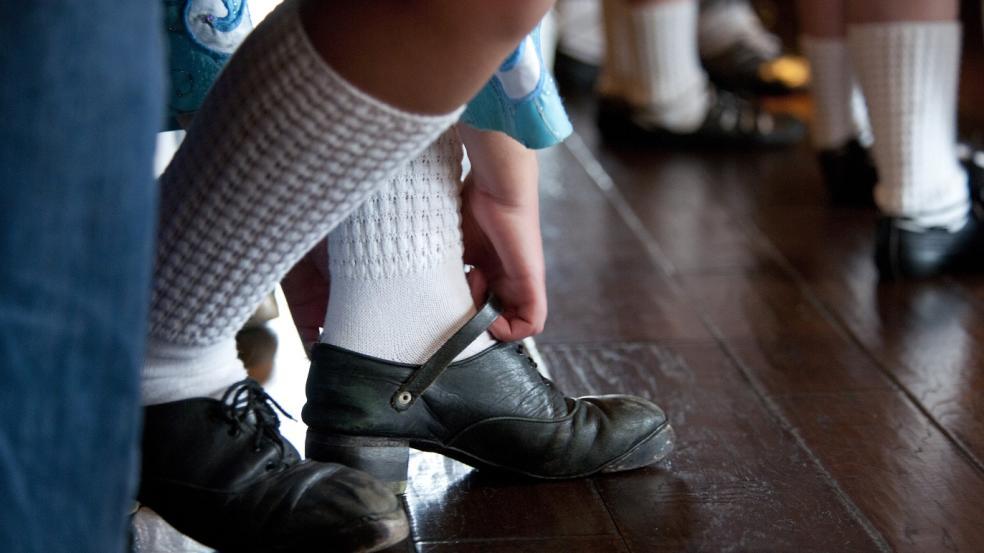 Tap dancing shoes