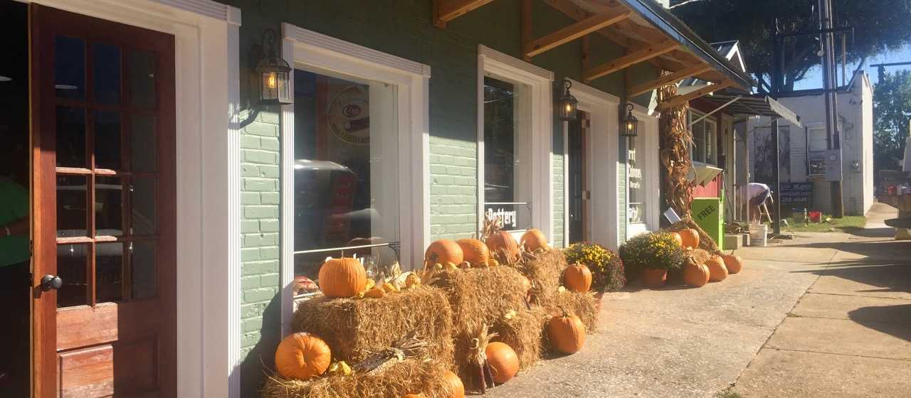 Fall harvest decor in Forest City}