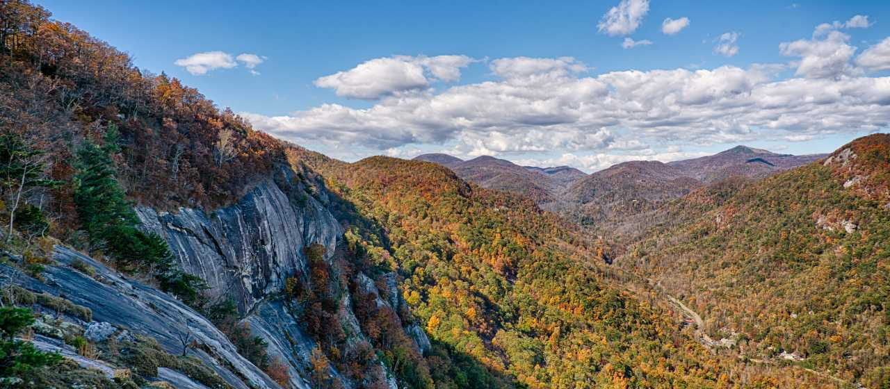 Fall Color in the Hickory Nut Gorge}