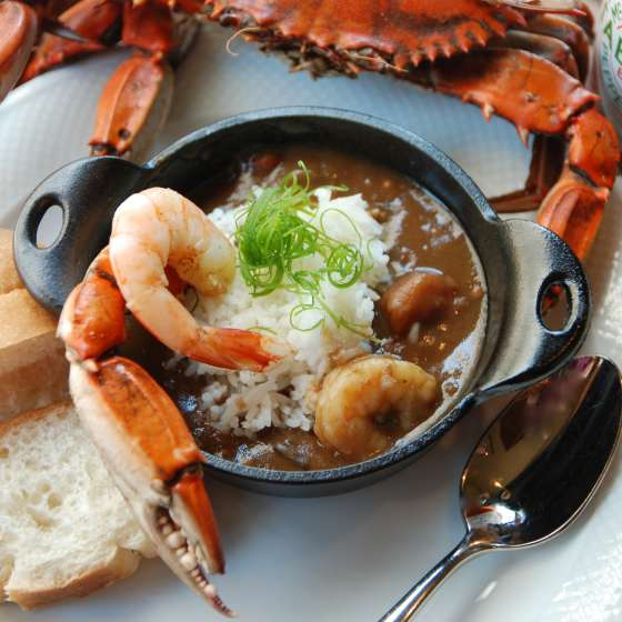 Gumbo, crab, shrimp