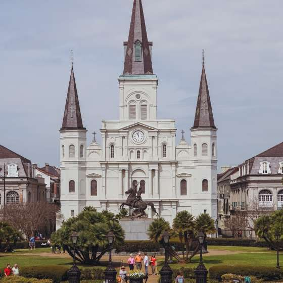 Jackson Square - St. Louis Cathedral - Springtime - French Quarter