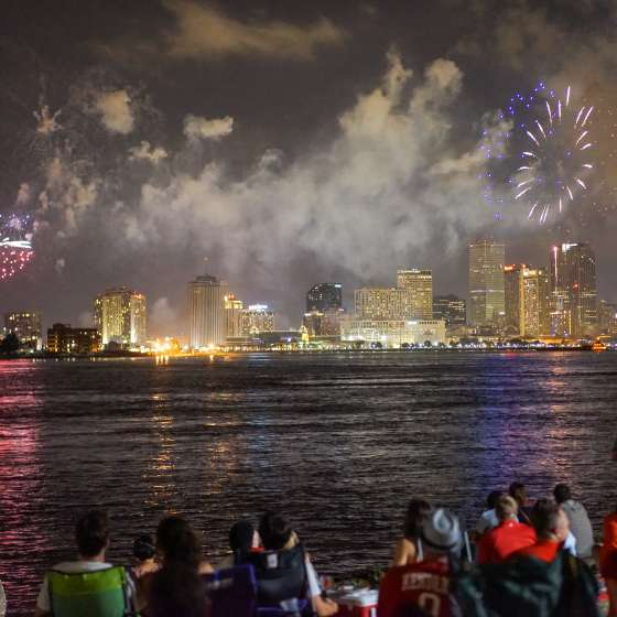 Tricentennial Calendar- Fireworks on the Mississippi
