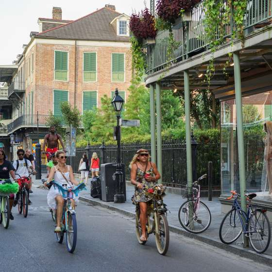 Bicyclists on Royal Street