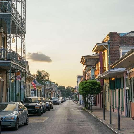 Magic Hour - Summer Sunset, French Quarter - Dumaine at Bourbon