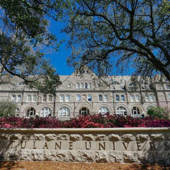 Tulane University - Gibson Hall - Spring - Azaleas