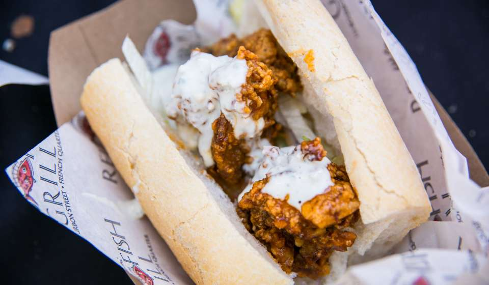 Barbecue Oyster Po-Boy