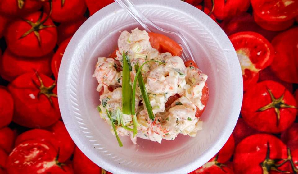 Crawfish and Shrimp Stuffed Creole Tomato