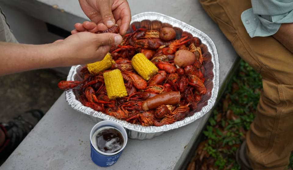 Crawfish at French Quarter Fest