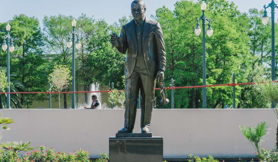 Louis Armstrong Statue in Armstrong Park