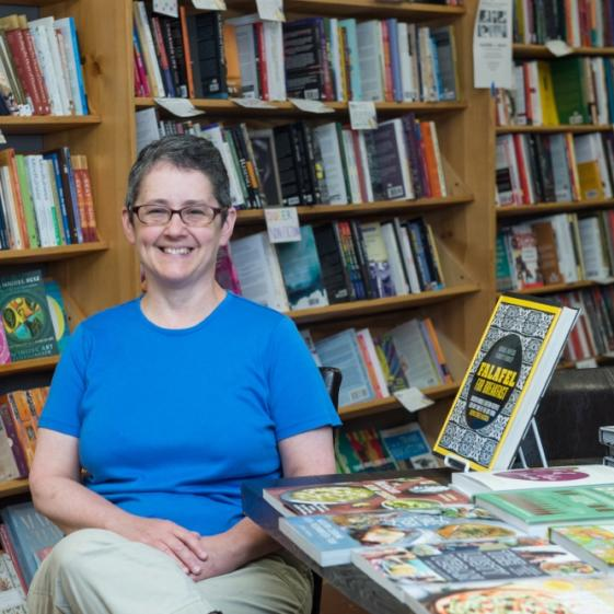 Lynn Mooney of Women and Children First Bookstore
