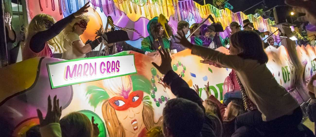 Mardi Gras float in Shreveport, La.