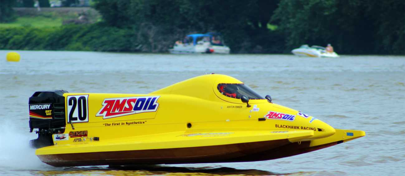 A photo of a powerboat