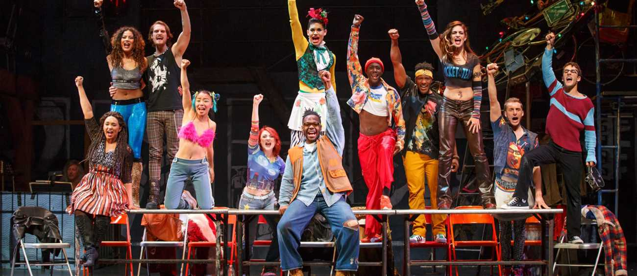 A photo of the musical RENT