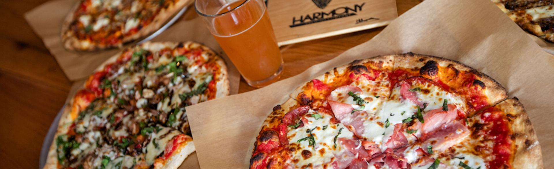 """Harmony Brewing has been voted """"Best Pizza in West Michigan"""" by Revue Magazine readers for three consecutive years."""