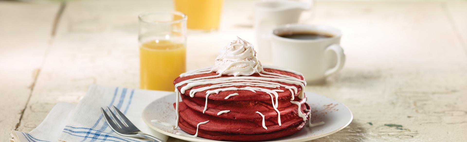 Food - Red Velvet Pancakes