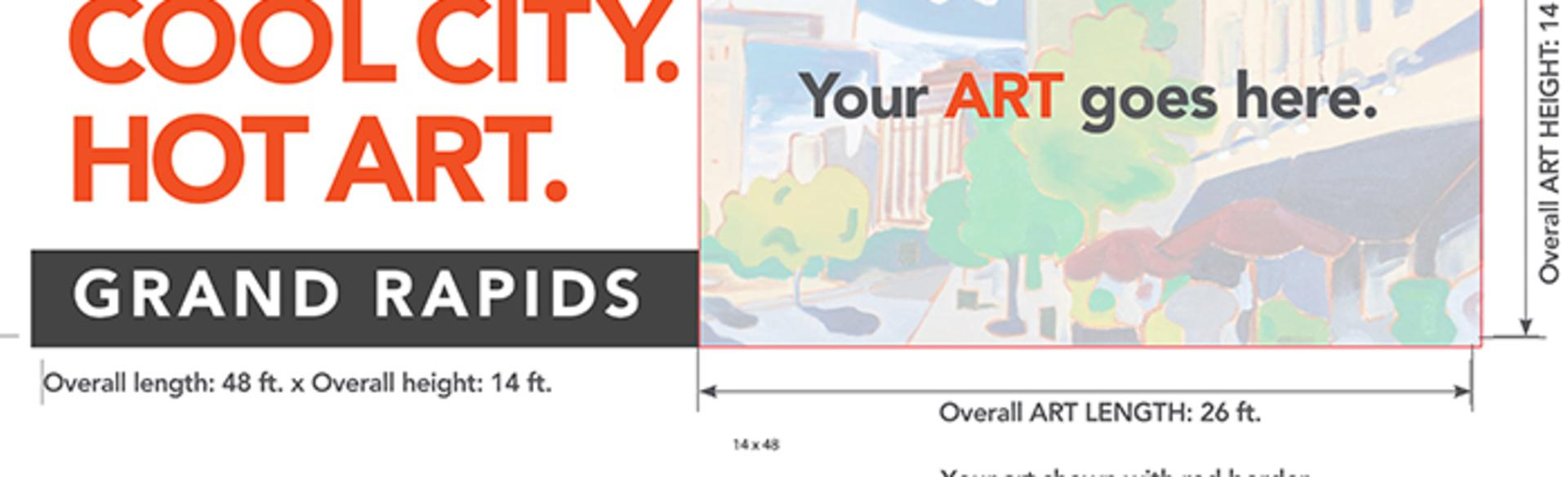 Cool City. Hot. Art. Art Outdoor size guidelines