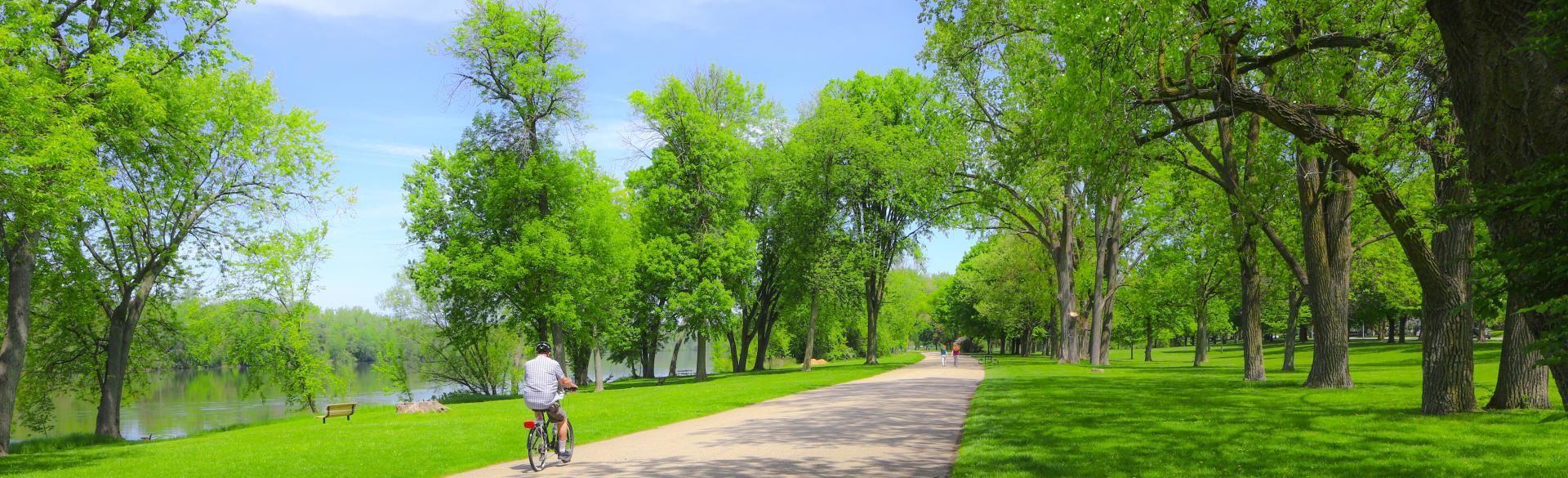 Copy of Biking in Riverside Park