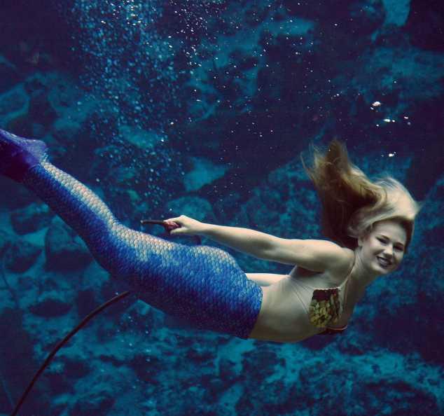 Squared image of World Famous Weeki Wachee Mermaid