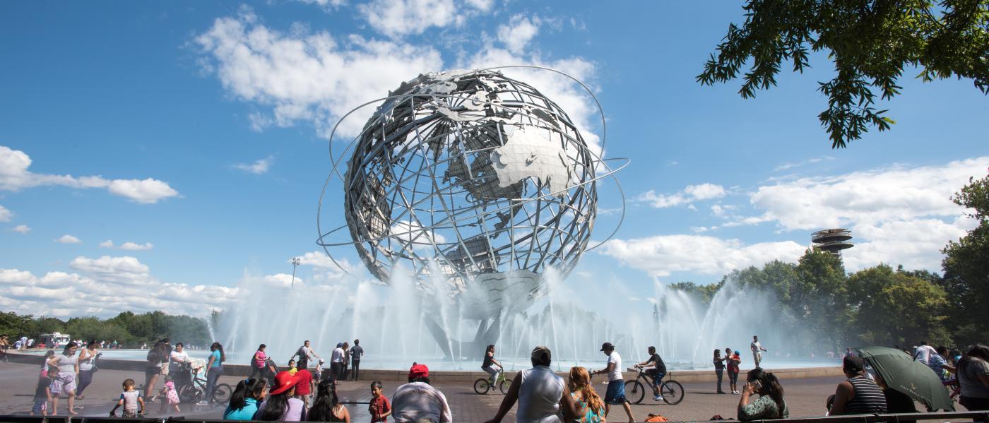 Unisphere, Queens, NYC, Julienne Schaer