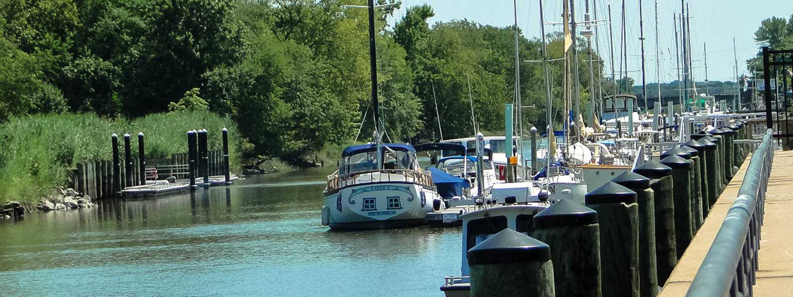 Boats on the canal in Delaware City