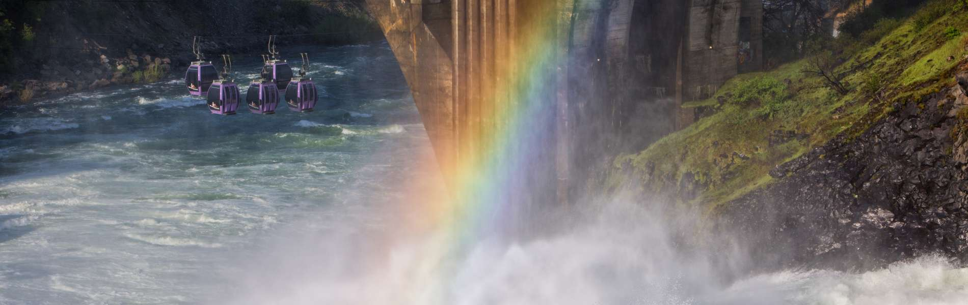 Rainbow over Spokane Falls
