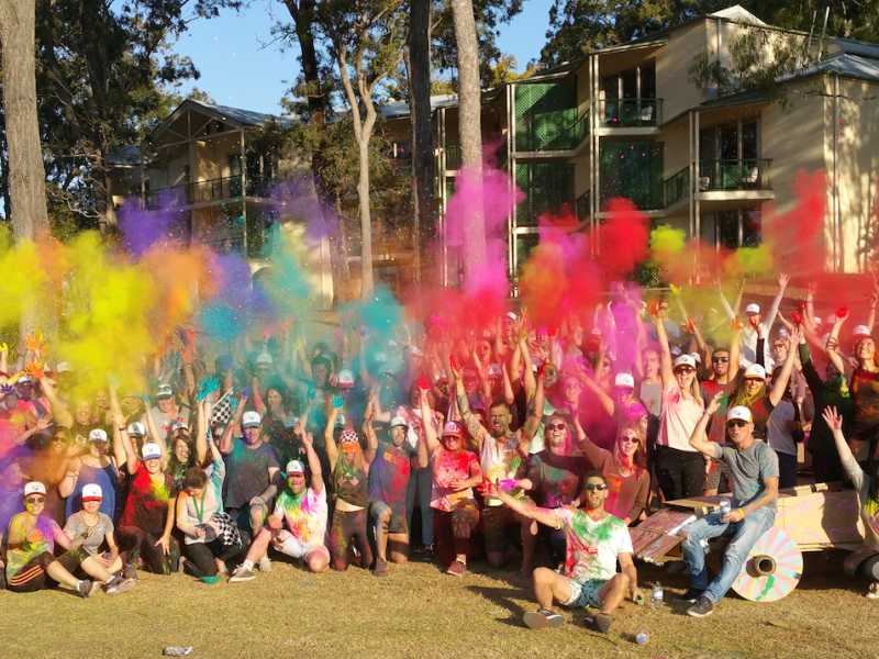 Colour run business event in Melbourne